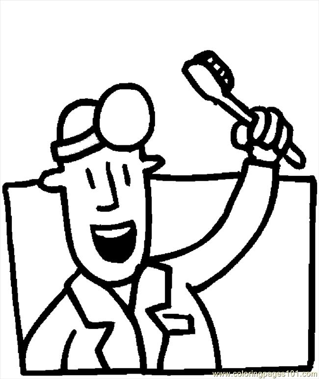 Toothbrush Dentist Pages Coloring Pages