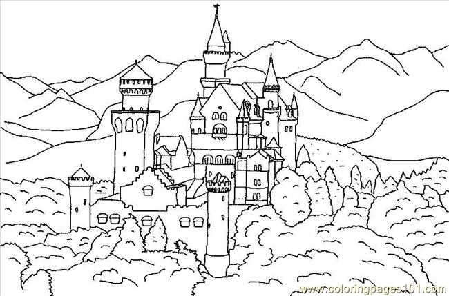 Free coloring pages of forest scene