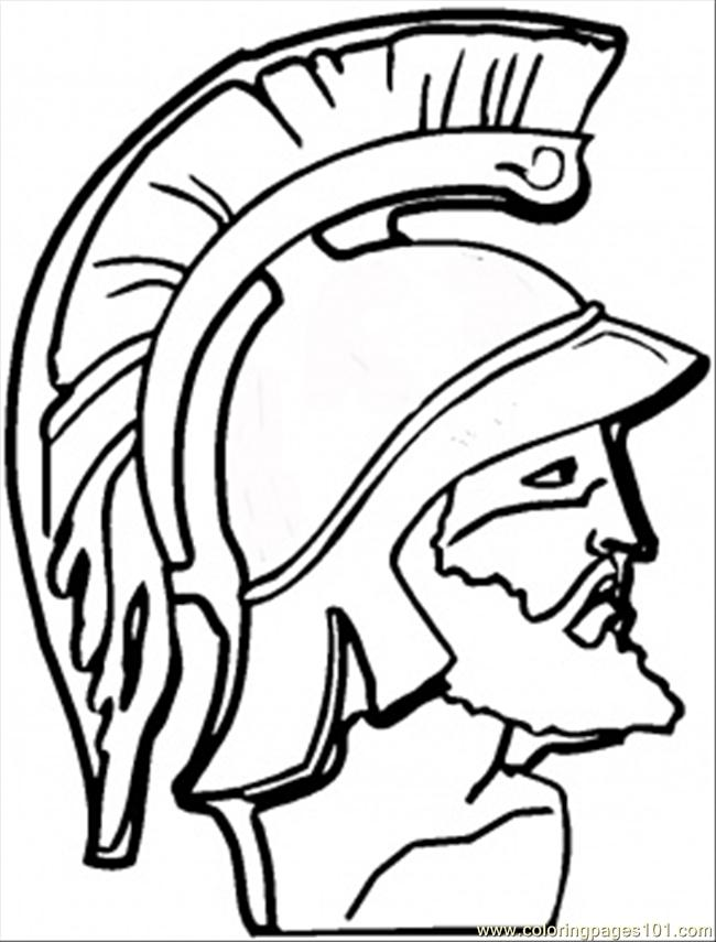 Coloring Pages F Greek Warrior Coloring Page (Countries