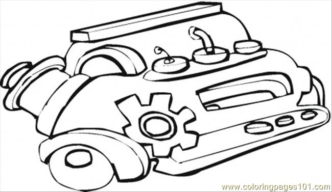 Car Engine With Labels Coloring Sheets Coloring Pages