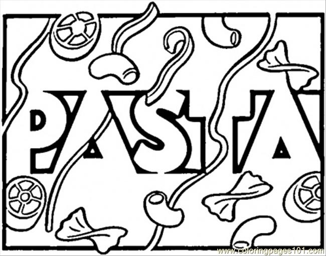 free printable coloring page Italian Pasta (Countries > Italy)
