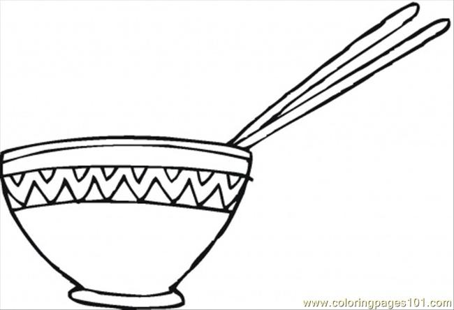 Cereal Bowl Coloring Page Coloring Coloring Pages