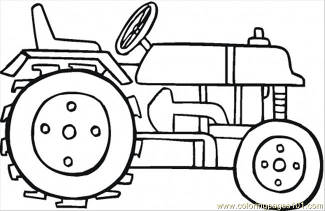 Tractor Printable Coloring Pages