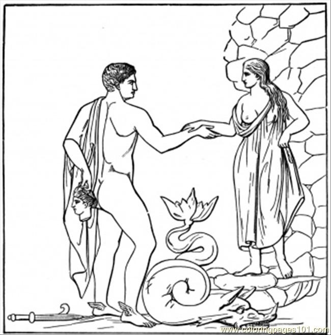 Roman Mythology Coloring Page Coloring Pages