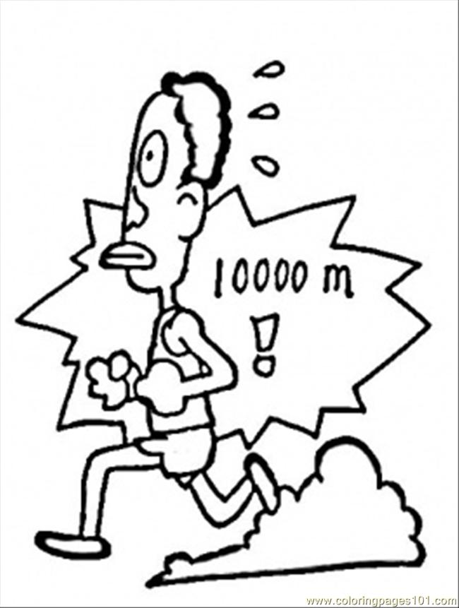 Coloring Pages Run 1000 Meters (Education > Numbers
