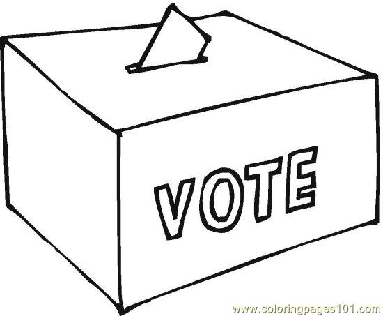 coloring pages vote () (peoples > politics)  free
