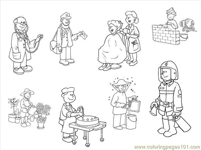 professions colouring pages (page 3)