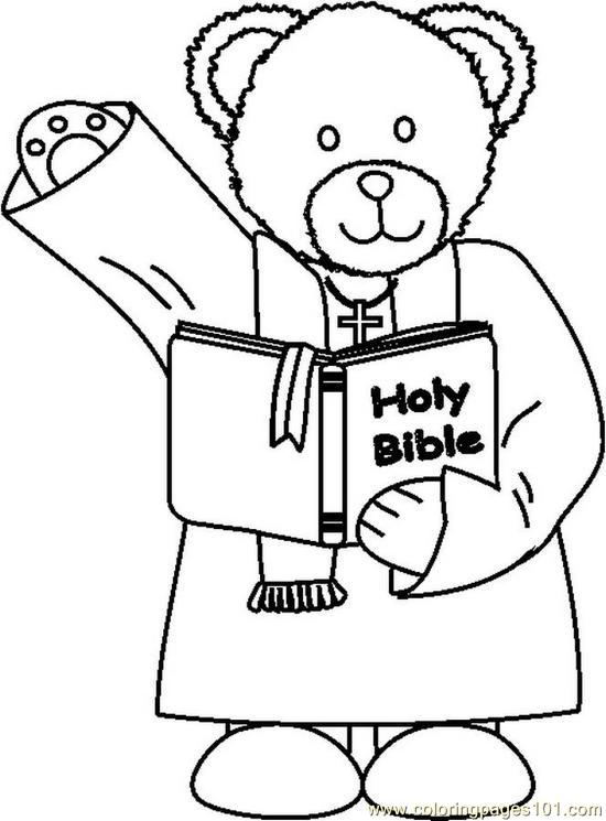 Coloring Pages Ministerbear1bw (Peoples > Relationship