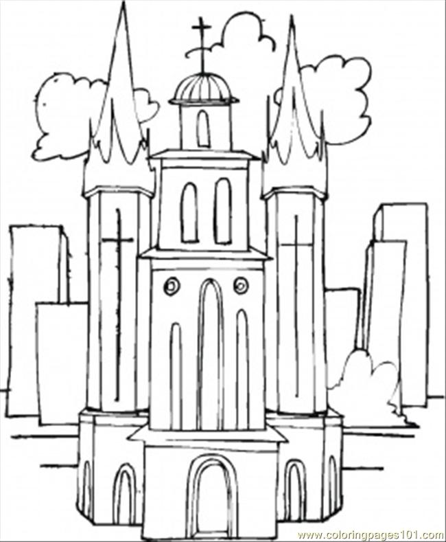 Free catholic church altar coloring pages