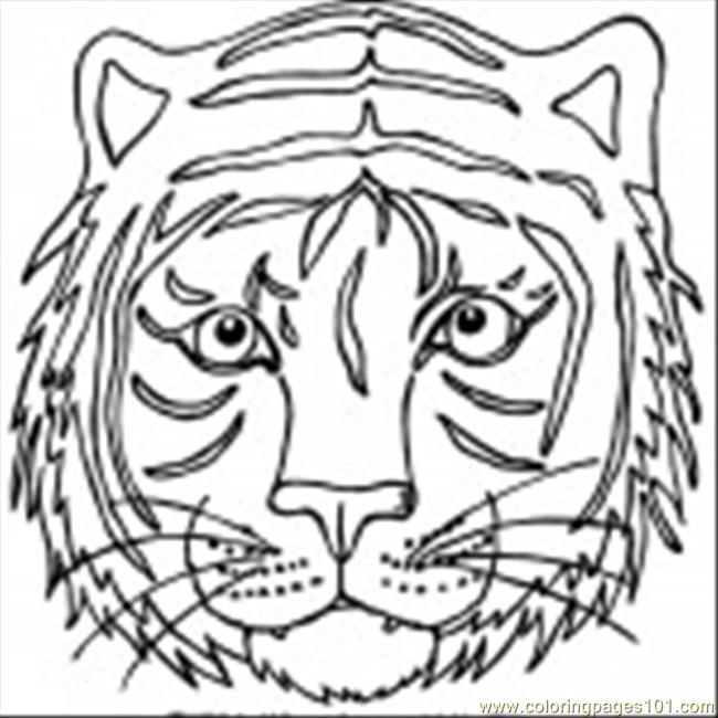 Free coloring pages of lion face mask
