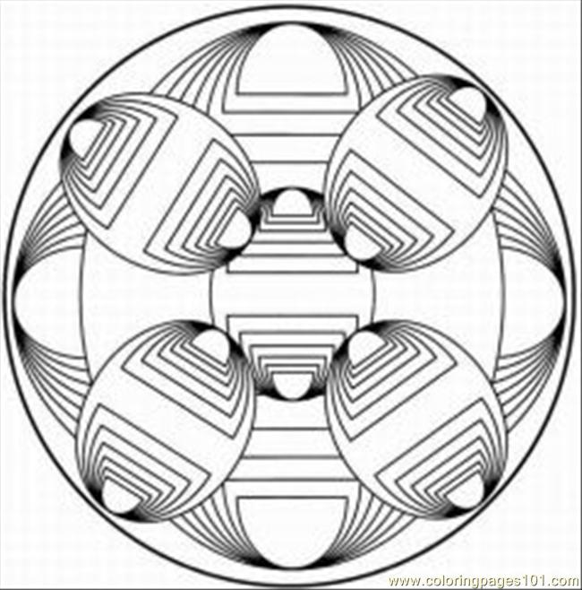 Kaleidoscope 16 Coloring Page