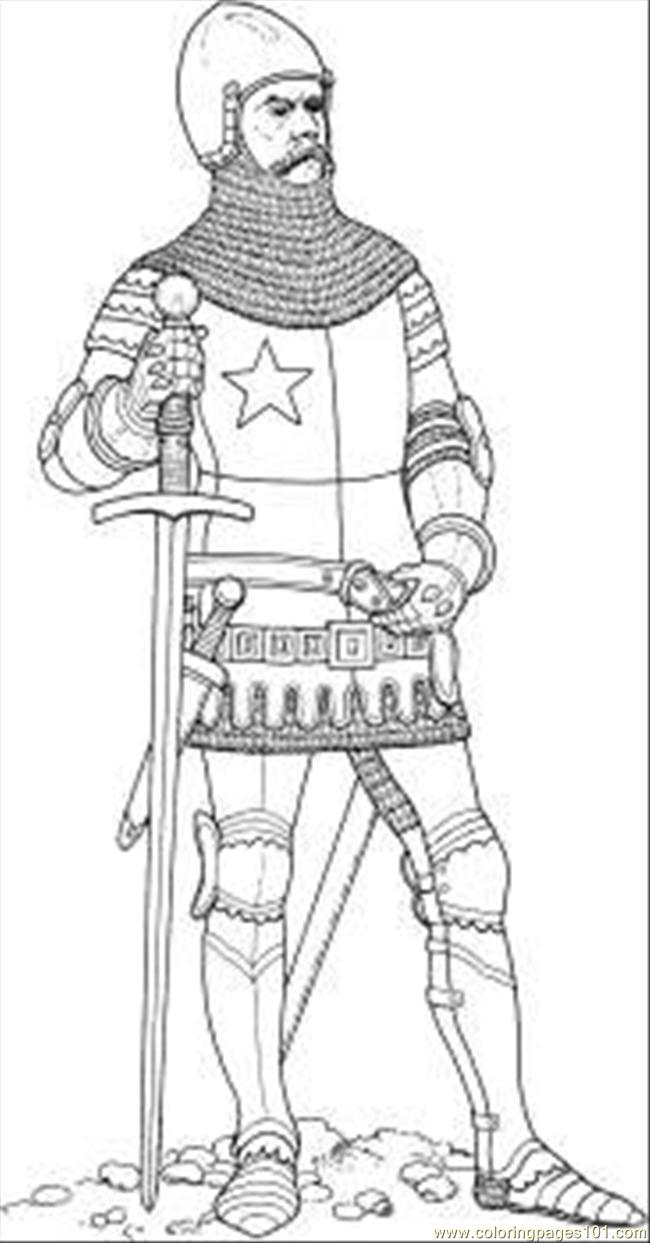 Knight Shield Coloring Page Coloring Pages