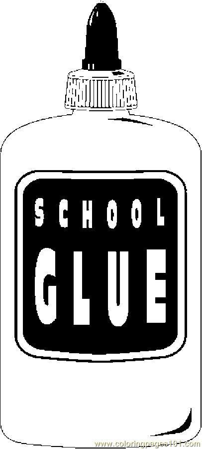 Glue 01 Coloring Page Free School Coloring Pages