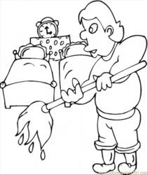 Husband Cleans The Kids Room Coloring Page Free Furnitures Coloring Pages : ColoringPages101 com