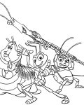 A Bug's Life Online Coloring Pages for boys