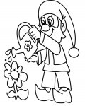 Gnomes printable coloring pages online for kids