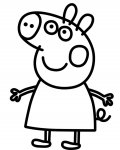 Peppa Pig Free Coloring Pages for Kids