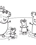 Peppa Pig Free coloring page template printing