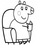 Peppa Pig Printable coloring Pages for boys