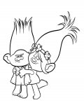Trolls Free printable coloring pages for children