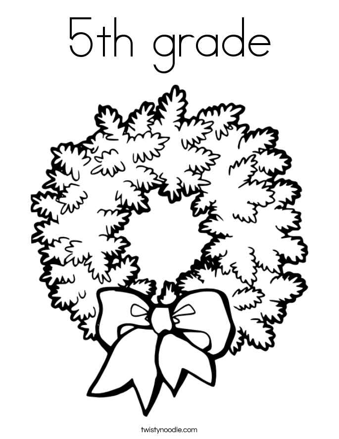 5th grade christmas coloring pages