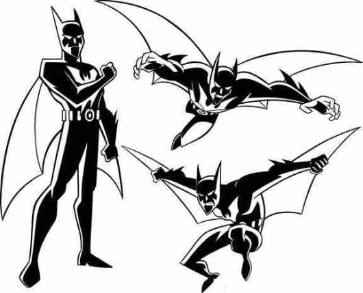 batman  -beyond coloring pages for preschoolers