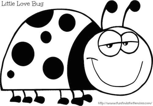 Coloring pages of ladybugs