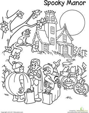 trick-or-treat3rd grade halloween coloring pages