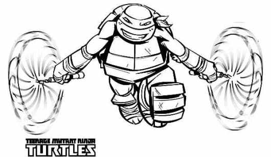 teenage mutant ninja turtles michelangelo coloring pages