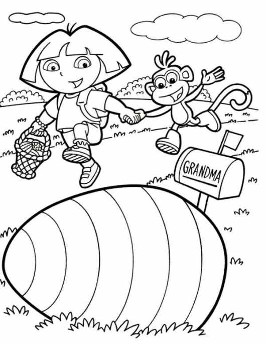 dora the explorer print out coloring pages