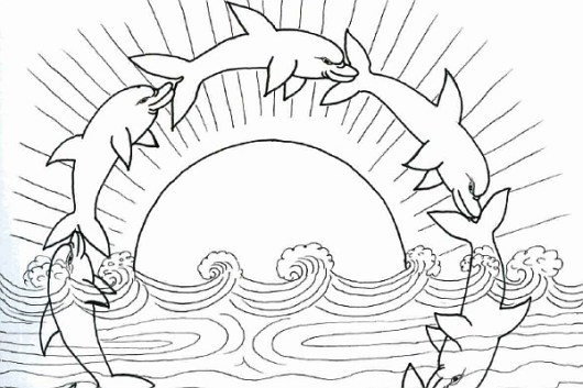 dolphins-coloring-pages-playful