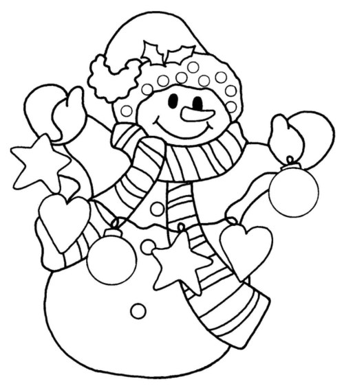 happy-snowman-christmas-coloring-pages