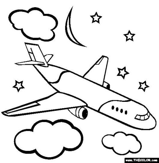 air-plane-coloring-pages