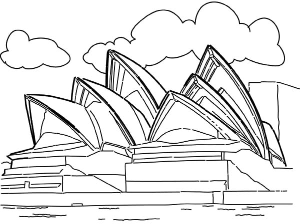 Opera-House-Sidney-Australia-Coloring-Pages-landmark-edition