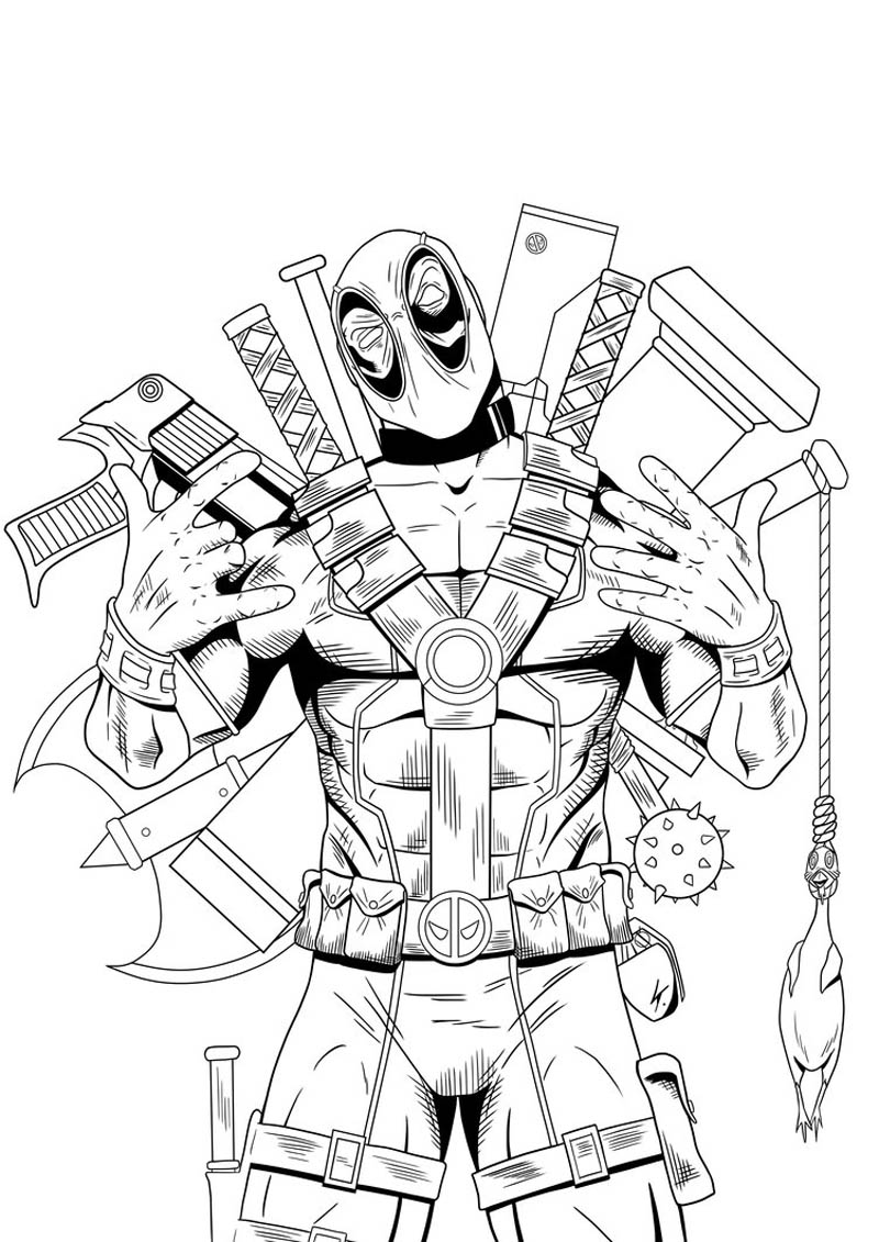 Deadpool coloring pages for boys coloring pages for Coloring pages for boys online