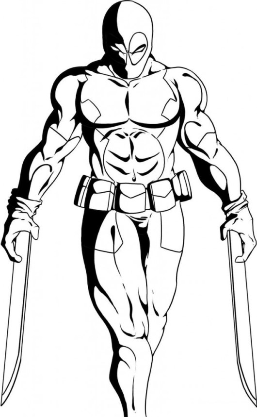 Deadpool-Coloring-Pages-with-weapons