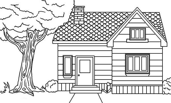 Home And House Coloring Pages