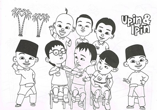 upin-&-ipin-complete-with-friends-coloring-pages