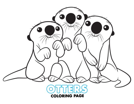 otters-Finding-Dory-Coloring-Page