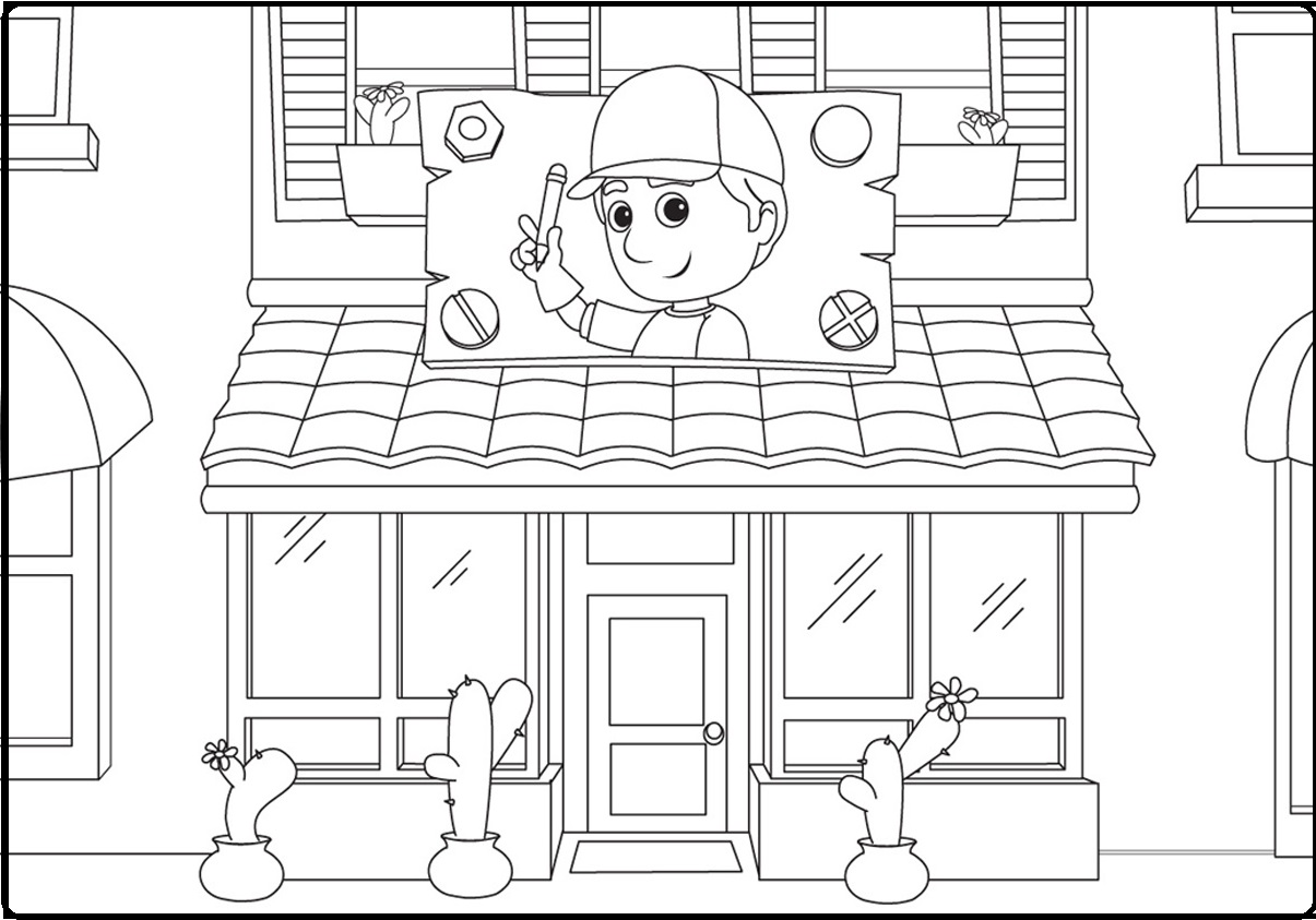Disney Handy Manny Coloring Pages