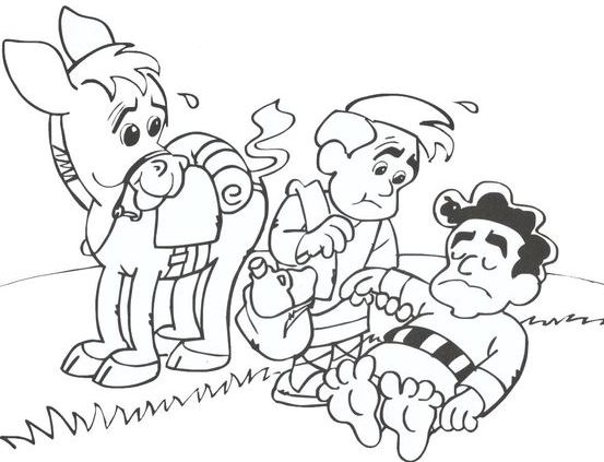 Good Samaritan Coloring Pages as A Learning Activity in