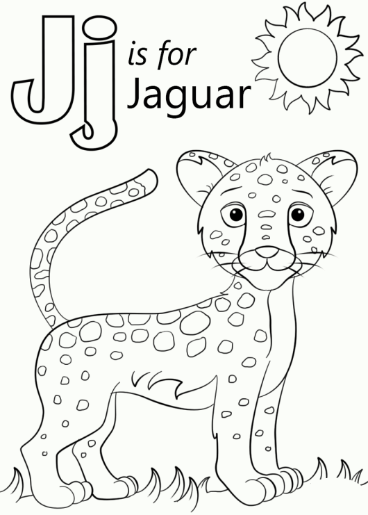Printable Jaguar to Color and Use