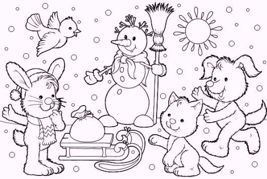animals-meet-in-winter-season-coloring-pages