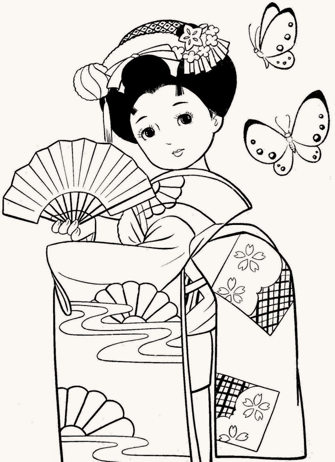 beatiful-geisha-coloring-pages