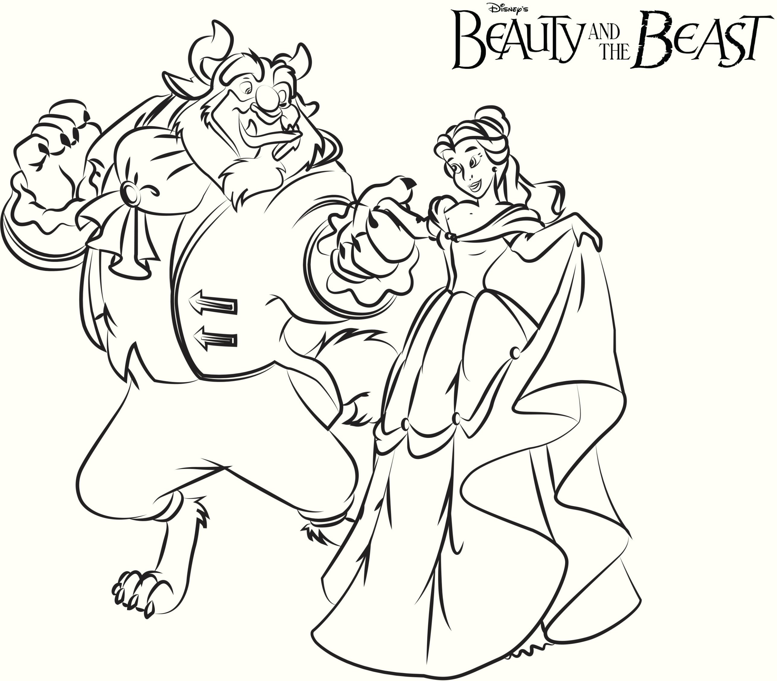 Beauty And The Beast Coloring Pages To Print Print Princess