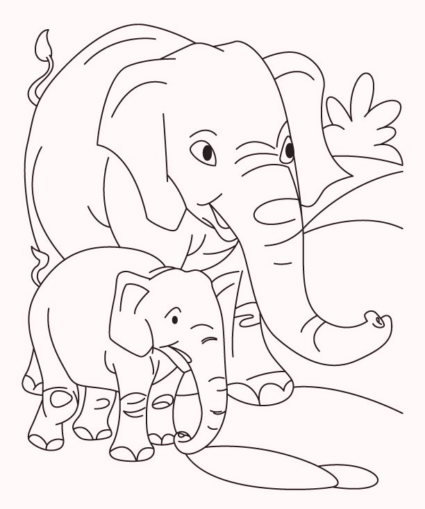 elephatn-and-baby-coloring-pages