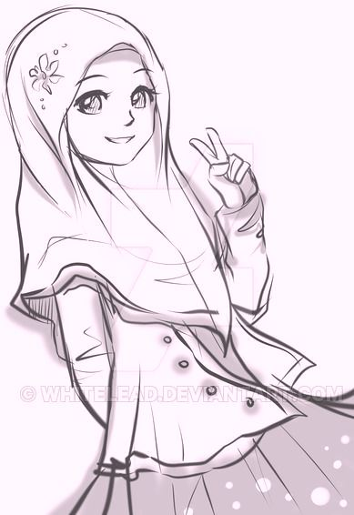 muslima-wears-hijab-cartoon-coloring-pages