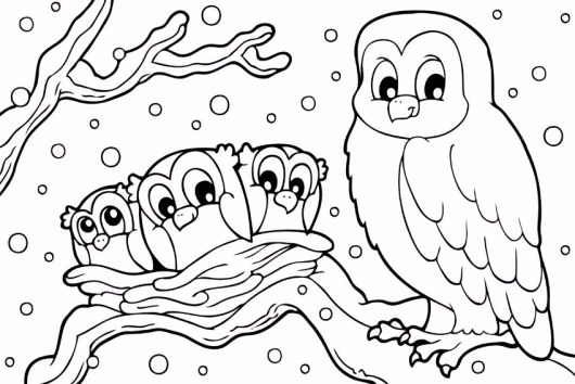snowy-owl-in-winter-coloring-pages