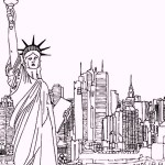 statue-of-liberty-as-landmarks-in-newyork-coloring-pages