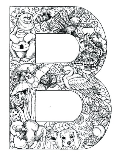 coloring_pages_animal_plant_abc_alphabet_B